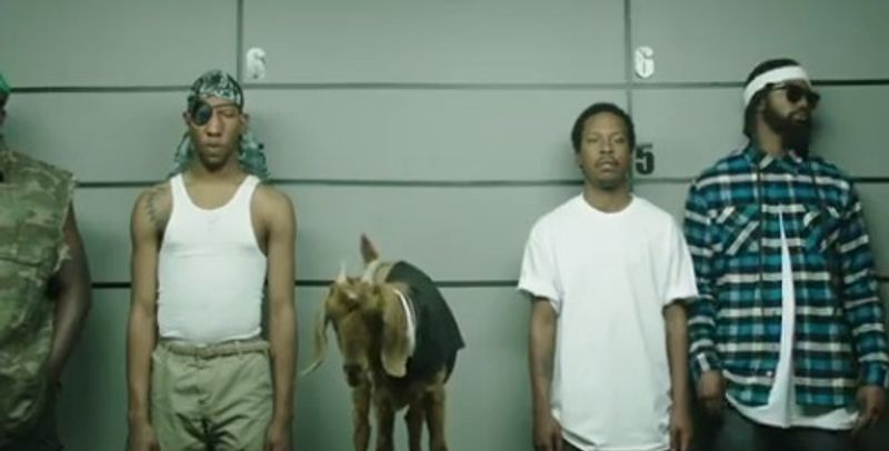 In an advertisement originally released online by PepsiCo, a woman must identify an assailant from a row of black men and a goat. PepsiCo pulled the ad after co