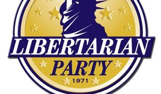 Official logo of the Libertarian Party. (image from Libertarian Party)