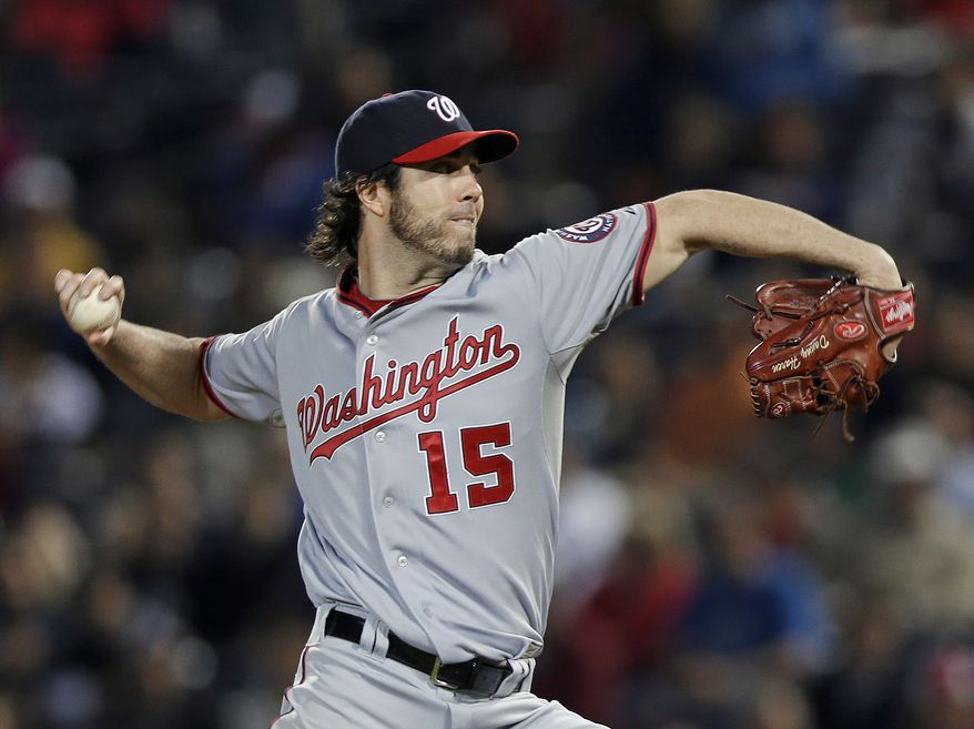 Dan Haren pitched eight innings and allowed just one run as the Washington Nationals beat the Atlanta Braves for the second consecutive night. (Associated Press photo)