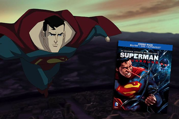 The Man of Steel has a Brainiac problem in the direct to video release Superman: Unbound.