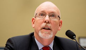Gregory Hicks, the deputy chief of mission at the U.S. Embassy in Libya, gives his opening testimony on Capitol Hill in Washington on May 8, 2013, before a House Oversight and Government Reform Committee hearing on the September 11, 2012, attack in Benghazi, Libya. (Andrew Geraci/The Washington Times)