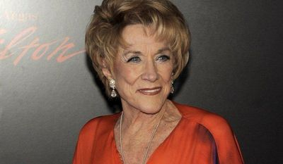 """Actress Jeanne Cooper, the longtime star of the TV soap opera """"The Young and the Restless,"""" arrives at the 37th annual Daytime Emmy Awards in Las Vegas on June 27, 2010. (AP Photo/Chris Pizzello)"""