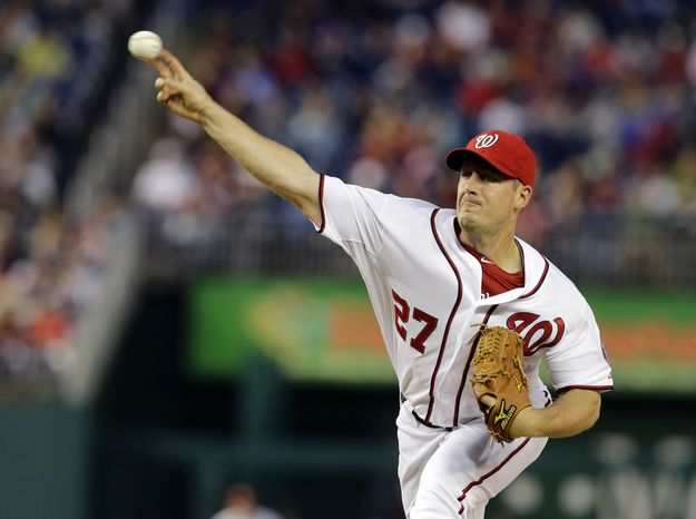 Jordan Zimmermann lowered his ERA to 1.59 after tossing seven innings and allowing just one run against the Detroit Tigers on Wednesday night. (Associated Press photo)