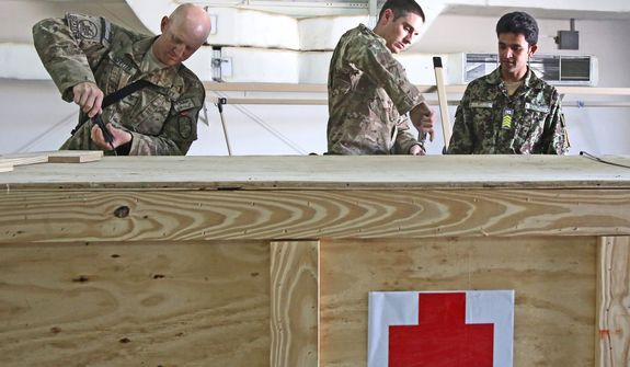 As a level 2 facility, the mobile surgical unit in southwestern Afghanistan will resemble a small hospital under a tent. It will provide treatment for life-threatening wounds and eventually allow for stabilization. (Defense Department)
