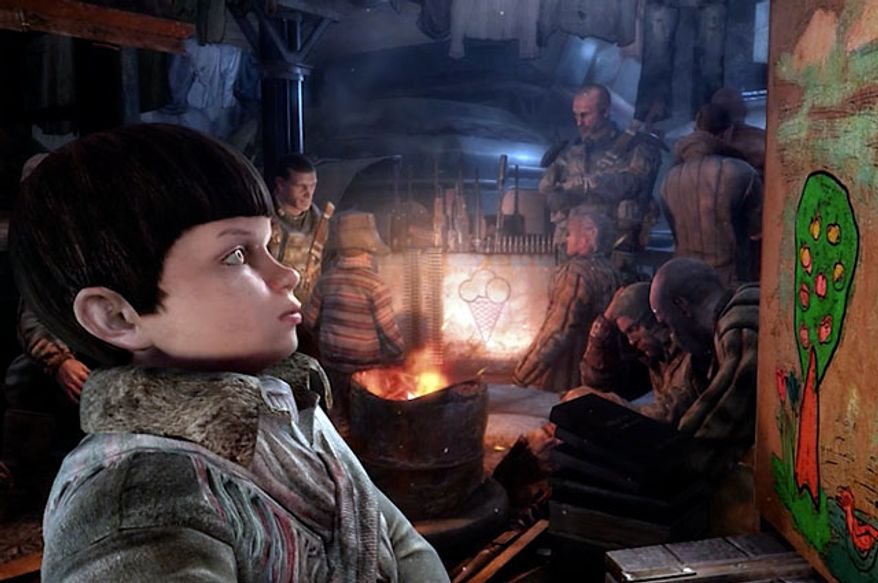 A child of the underground in the first person shooter Metro: Last Light.
