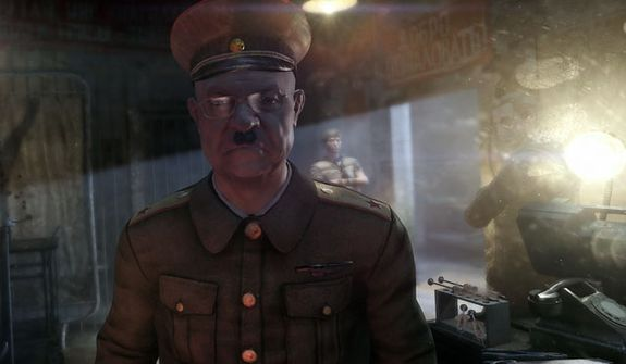 A Communist Party official welcomes a player to his torture chamber in the first person shooter Metro: Last Light.