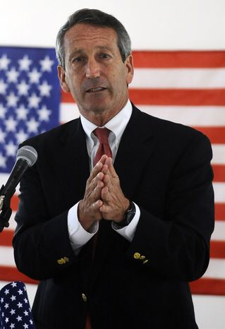 Former South Carolina Gov. Mark Sanford speaks during the NAACP 1st Congressional District political forum on Tuesday, April 30, 2013, in Goose Creek, S.C.