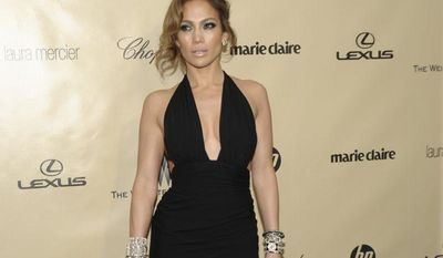 Actress-singer Jennifer Lopez arrives at the Weinstein Co.'s Golden Globes after-party at the Beverly Hilton Hotel on Sunday, Jan. 13, 2013, in Beverly Hills, Calif. (Dan Steinberg/Invision/AP)