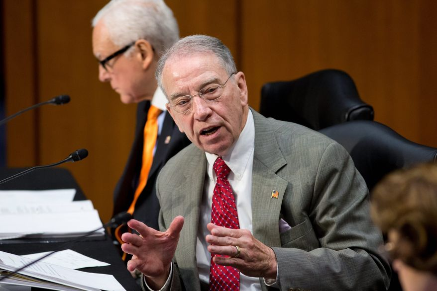 Sen. Chuck Grassley, Iowa Republican, introduced an amendment to the immigration bill that would prevent changes to the asylum or refugee systems until after an audit of what went wrong in Boston. (Associated Press)