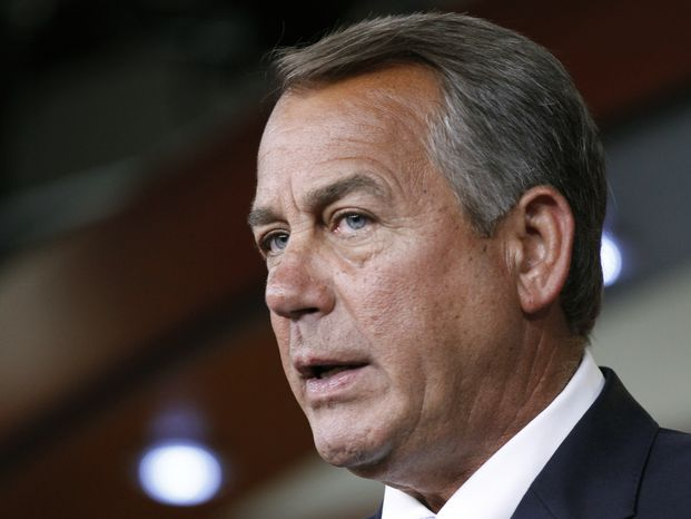 ** FILE ** House Speaker John A. Boehner, Ohio Republican (Associated Press)