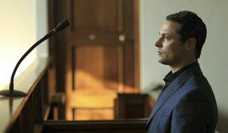 Carl Pistorius, who is the brother of Oscar Pistorius, the superstar double-amputee Olympic athlete, appears for his culpable homicide case at the Magistrate Court in Vanderbijlpark, South Africa, on Tuesday, May 21, 2013. (AP Photo/Themba Hadebe)