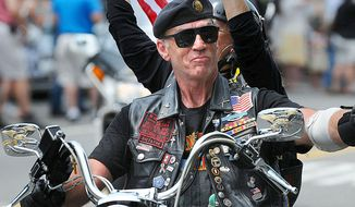 "Rolling Thunder Inc. National Executive Director Artie Muller will be leading the way during the 26th annual Ride for Freedom. ""Always remember our troops serving,"" he said. (The Washington Times)"