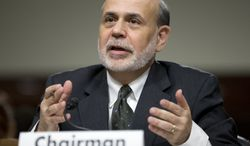 Federal Reserve Chairman Ben S. Bernanke testifies on Capitol Hill in Washington on Wednesday, May 22, 2013, before the Joint Economic Committee. (AP Photo/Manuel Balce Ceneta)