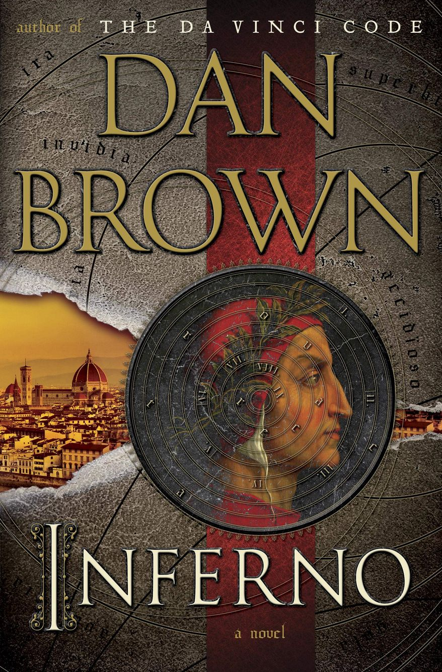 """This book cover image released by Doubleday shows """"Inferno,"""" by Dan Brown. (AP Photo/Doubleday)"""