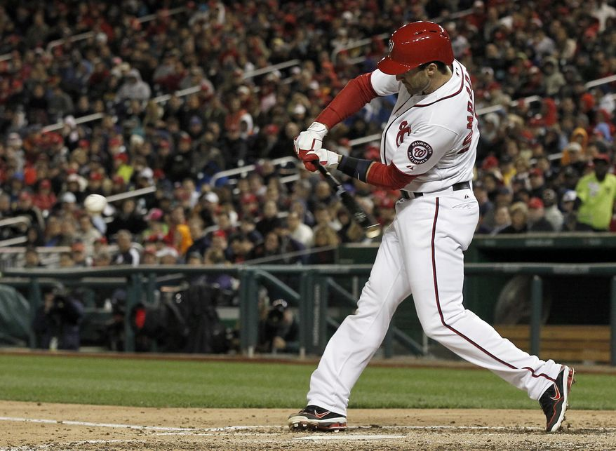 Washington Nationals infielder Steve Lombardozzi was 3-for-4 with two RBI in the Nationals' 5-2 victory over the Philadelphia Phillies on Friday night. (Associated Press photo)