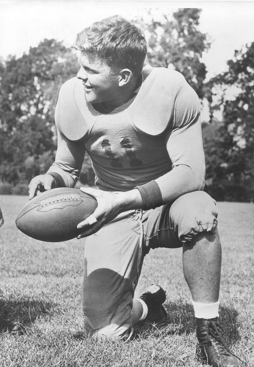 """Keith Birlem is pictured during his time as a quarterback at San Jose State in 1938. He was named a """"Little All-American"""" that year and went on to play in the NFL for the Chicago Cardinals and Washington Redskins. Birlem was killed in an airplane accident May 7, 1943 near Polebrook, England. (San Jose State University)"""