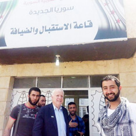 ** FILE ** Sen. John McCain, meeting for several hours on Monday, May 27, 2013, with rebel leaders in Syria, was asked for U.S. help to establish a no-fly zone, obtain anti-aircraft weapons and launch airstrikes on targets associated with the regime of President Bashar Assad. (Syrian Emergency Task Force)