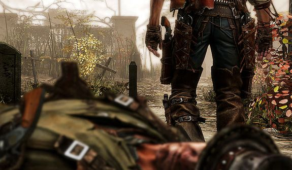 Shoot to survive in the first person shooter Call of Juarez: Gunslinger.