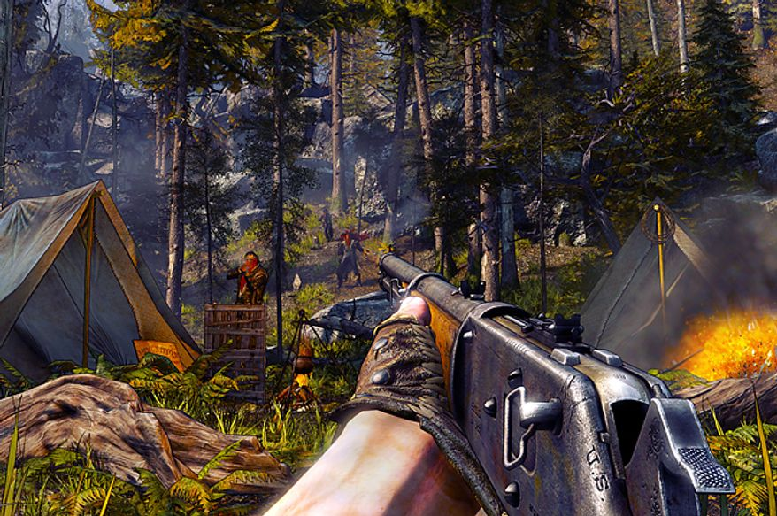 Use a rifle to pick off bad guys while admiring some spectacular locations in the first person shooter Call of Juarez: Gunslinger.