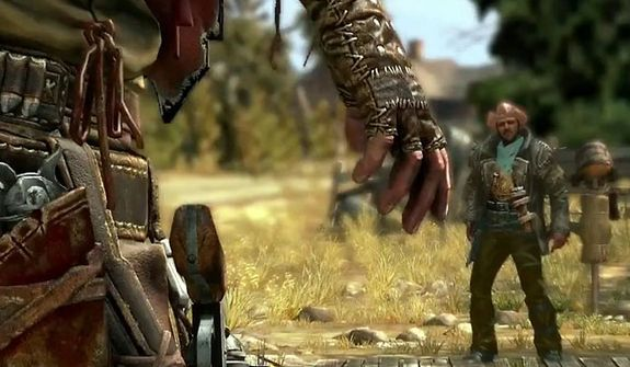 Watch for an enemy's itchy trigger finger and draw your weapon in the first person shooter Call of Juarez: Gunslinger.