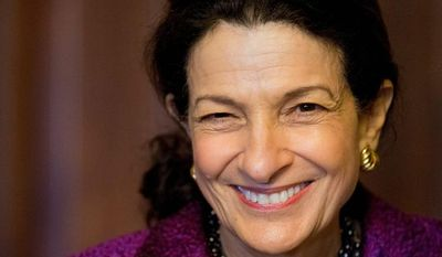 ** FILE ** Former Sen. Olympia J. Snowe has been known as a fiery fighter for her causes but also as a legislator skilled in the art of building consensus. She chose not to run for another term. (Associated Press)