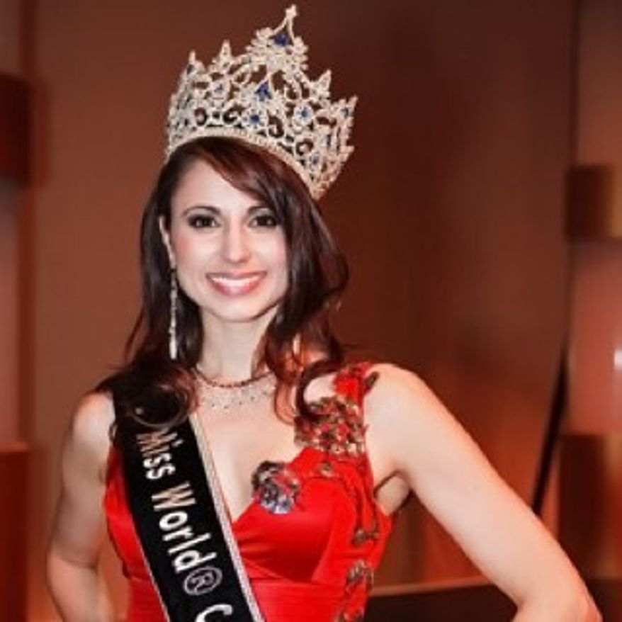 Denise Garrido, seen here in a photo from her Twitter page, was mistakenly declared the winner of the Miss Universe Canada pageant on May 25 because of a computing error.