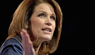 Rep. Michele Bachmann, Minnesota Republican, will not run for re-election in 2014. A proud social conservative, she made an immediate splash in the GOP presidential race in 2011, but voters turned on her, and she dropped out six months later. (Associated Press)