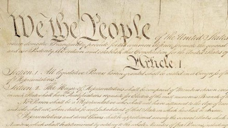 The Preamble and Article I of the U.S. Constitution (American Civil Liberties Union)