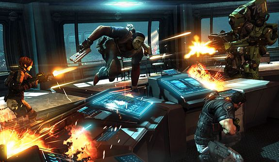 Run, take cover and shoot in the video game Fuse.