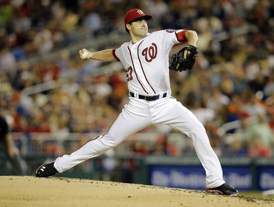 Nationals' right-hander Nate Karns turned in 4 1/3 strong innings in his major league debut. In the Nationals' 9-3 victory over the Orioles, the rookie's start was backed by Adam LaRoche's third multi-homer game of the season as well as back-to-back shots from Tyler Moore and Roger Bernadina.