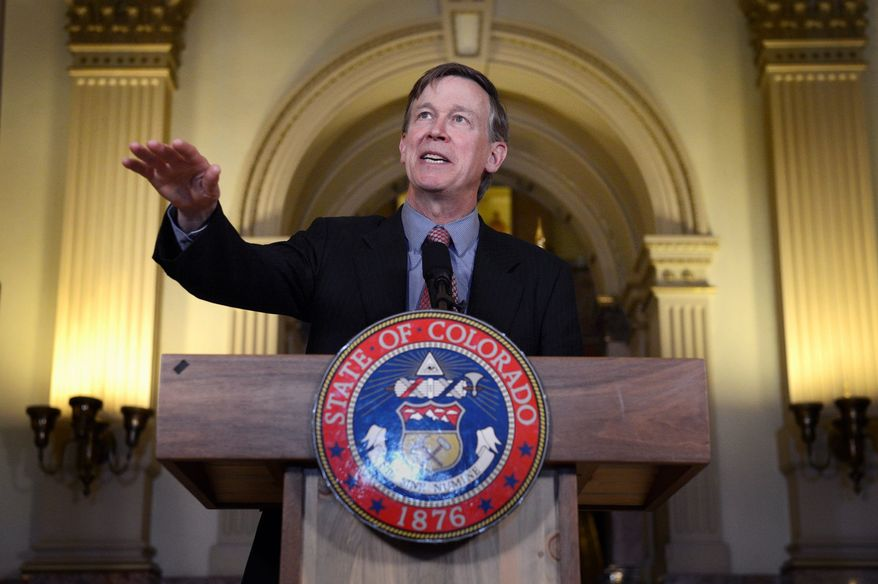 """Colorado Gov. John Hickenlooper on May 22 granted Nathan Dunlap a """"temporary reprieve,"""" putting off indefinitely his execution on death row for the 1993 shooting deaths of four employees at an Aurora, Colo., restaurant. (Associated Press)"""