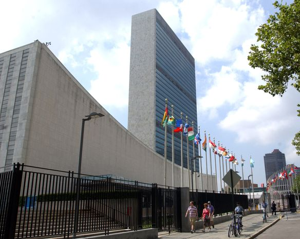 **FILE** The United Nations headquarters building is seen July 27, 2007, in New York. (Associated Press)