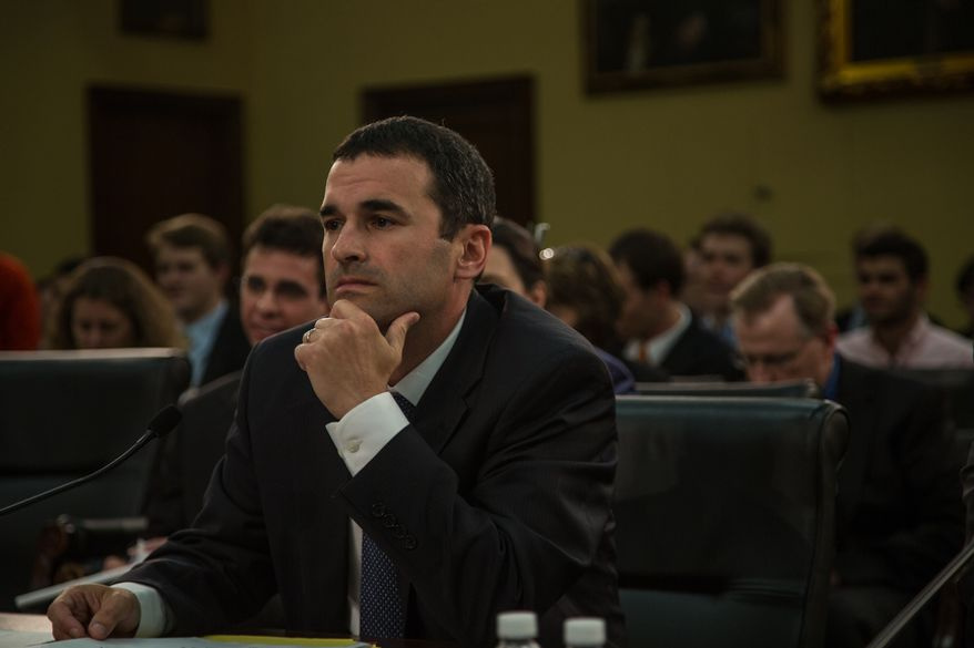 Danny Werfel, acting commissioner of the Internal Revenue Service, appears before a House oversight panel on Capitol Hill in Washington on Monday, June 3, 2013. (Andrew S. Geraci/The Washington Times)