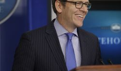 White House spokesman Jay Carney speaks during his daily news briefing at the White House in Washington on June 3, 2013. (Associated Press)