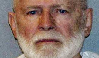 """James """"Whitey"""" Bulger, who was one of the FBI's Ten Most Wanted fugitives, is pictured in a booking photo on June 23, 2011. He was captured in Santa Monica, Calif., after 16 years on the run. (Associated Press/U.S. Marshals Service)"""