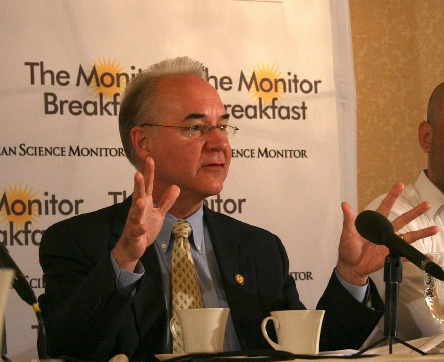 Rep. Tom Price, Georgia Republican, attends a breakfast hosted by the Christian Science Monitor in downtown Washington on June 5, 2013. (Christian Science Monitor)