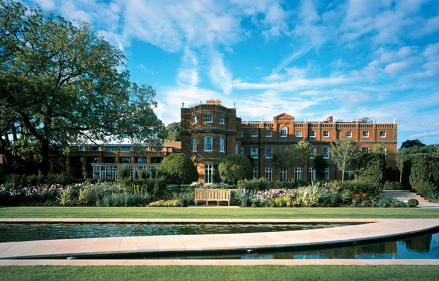 The swank Grove Hotel, site of the 2013 Bilderberg Conference, some 20 miles northeast of London. (image from the Grove Hotel)