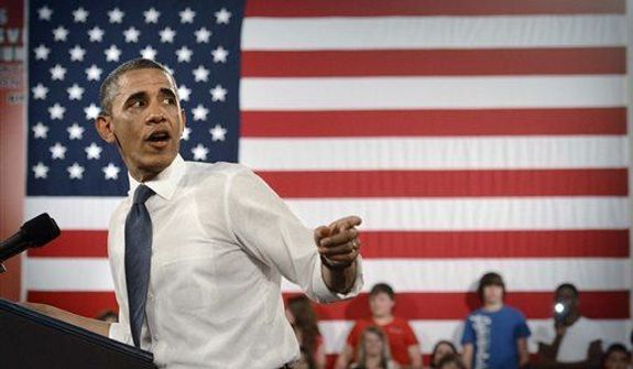 President Obama speaks to students at Mooresville Middle School Thursday, June 6, 2013 in Mooresville, N.C.  (Associated Press)