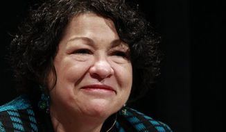 Supreme Court Justice Sonia Sotomayor has gotten more than $3 million in advance payments for her best-selling memoir from her publisher. The justice's annual financial disclosure forms were released Friday. (AP Photo/Brennan Linsley, File)