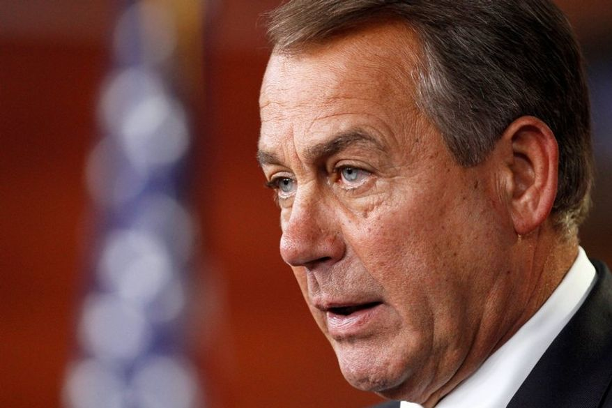House Speaker John A. Boehner, Ohio Republican, said Monday he will bring his chamber's latest version of the farm bill to the floor this month. He declined to do so last year to avoid intraparty fighting during an election year. (Associated Press)