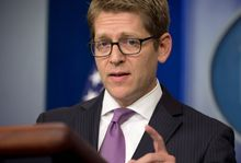 White House press secretary Jay Carney on Monday blamed congressional Republicans for the long holdup in appointing a permanent director of ATF. (Associated Press)