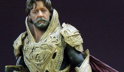"DC Collectibles' statue of actor Russell Crowe as Jor-El from the movie ""Man of Steel."" (Photo by Joseph Szadkowski / The Washington Times)"