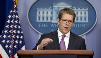 White House spokesman Jay Carney speaks during his daily news briefing at the White House on June 10, 2013. (Associated Press)