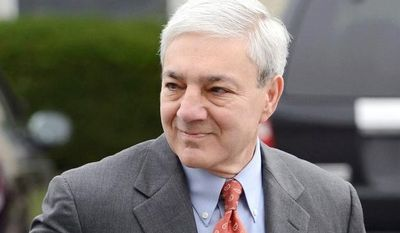 ** FILE ** In this Nov. 7, 2012, former Penn State president Graham Spanier arrives at the office of a Harrisburg District Court judge in Harrisburg, Pa. (Associated Press)