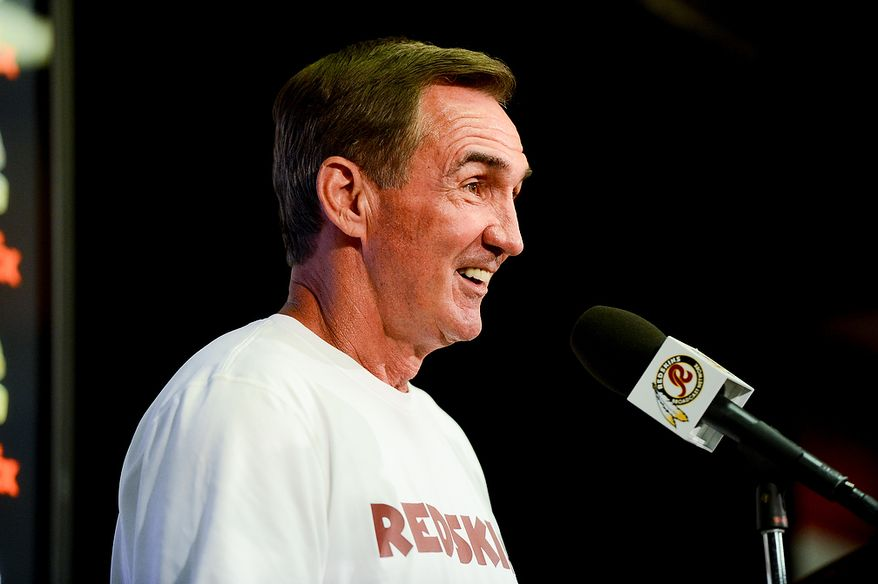 Washington Redskins head coach Mike Shanahan speaks at a press conference after practice during mini camp at Redskins Park, Ashburn, Md., Tuesday, June 11, 2013. (Andrew Harnik/The Washington Times)