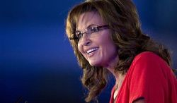 ** FILE ** Former Alaska Gov. Sarah Palin speaks during the Faith & Freedom Coalition's Road to Majority 2013 conference on Saturday, June 15, 2013, in Washington. (AP Photo/Carolyn Kaster)