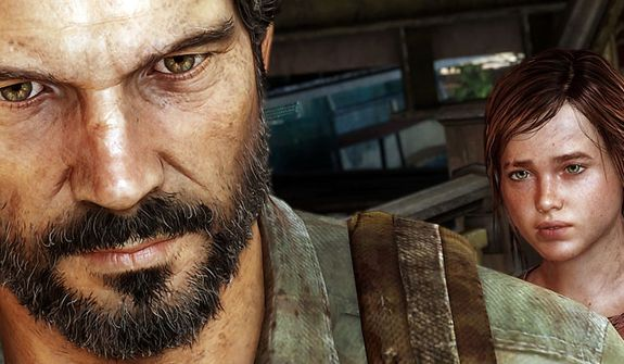 Joel and Ellie bond as they survive in the video game The Last of Us.