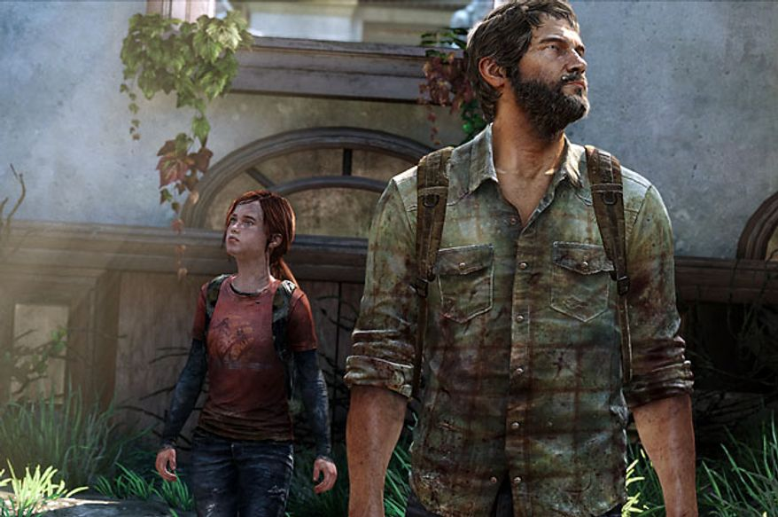 Joel and Ellie look for help in the video game The Last of Us.