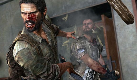 Joel does not just have to worry about the infected in the video game The Last of Us.