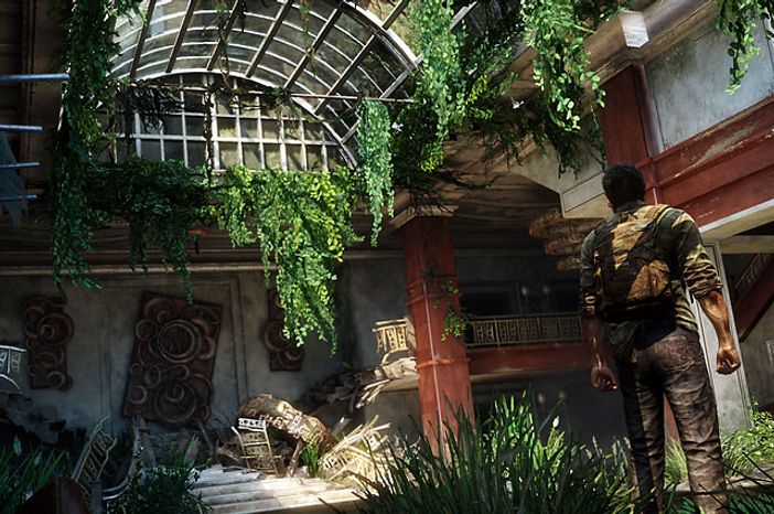 Mother Nature starts to rebuild the United States in the video game The Last of Us.